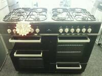 NEW WORLD RANGE 100CM DUEL FUEL COOKER IN BLACK