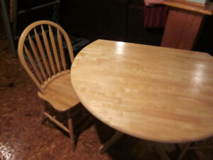 Solid Birch Table + 2 chairs