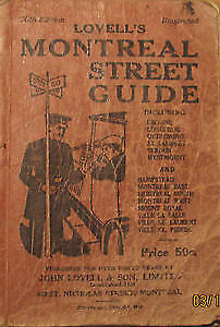 RARE - Vintage Lovell`s Montreal Street Guide 1948 edition