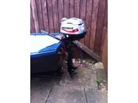 12ft Rowing Boat with New 2.5 Mariner 4 STROKE outboard and Trailer