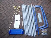 CHILDRENS SINGLE OUTDOOR SWING - GALVANIZED - NEW PARTS IN ORIGINAL PACKING - NOT THE ROPE OR SEAT