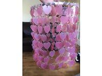 2 x pink heart light shades