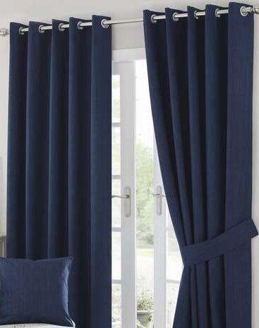 Dunelm Mill Solar Navy Blackout Eyelet Curtains 66 X 90