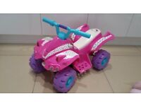 Hello Kitty Pink Electric Ride-On Quad Bike in excellent as new condition