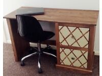 Solid Wood Desk with storage drawers.