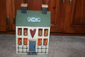 Lighted Christmas Wooden  House
