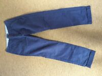 Shore Leave blue chinos W31 L32