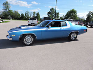 1973 PLYMOUTH ROAD RUNNER 360, 4 SPEED, NEW TIRES ! FINANCING AV
