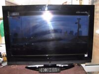 Hitachi Black 32 Ins Col LCD,TV, With Freeview, & Remote.