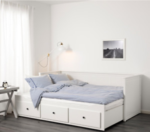 BEAUTIFUL White IKEA Bed frame (only 2 yrs old)