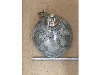 Crackle glaze pendant light