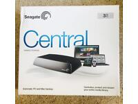 3TB Seagate Central Expansion Desktop NAS Drive, External HDD - STCG3000200
