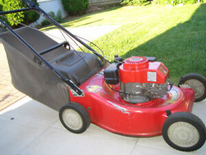 SELF PROPELLED GAS LAWNMOWER RWD REAR BAGGER
