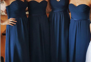 4 CHRISTINA WU Bridesmaid Dresses Style #22742 in Navy