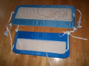2 Barrières de sécurité de lit