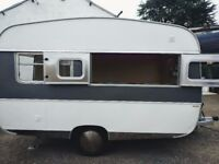1970s caravan converted into mobile bar / food van