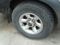 4X4 ALLOY WHEELS AND TYRES,MUSSO,SHOGUN ? X5
