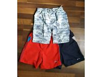 3 pairs of boys swimming shorts