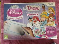 Disney U Draw Wii Game Tablet Gift Pack Like new
