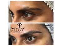 Microblading eyebrow semi permanent makeup eyebrow tattoo