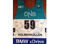 Autographed starting bib from Biathlon World Cup