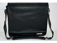 GENUINE BOSE SOUNDDOCK & SOUNDLINK LEATHER TRAVEL BAG / CARRYING CASE - BLACK - MINT CONDITION!