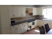 Complete Johnson & Johnson Shaker-style fitted kitchen, Range Cooker & Fridge/Freezer