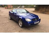 Amazing 1999 in gleaming metallic blue Mercedes Benz SLK 230 kompressor convertible automatic
