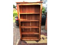 AFRICAN HARDWOOD BOOK CASE/SHELVES IN EXCELLENT CONDITION