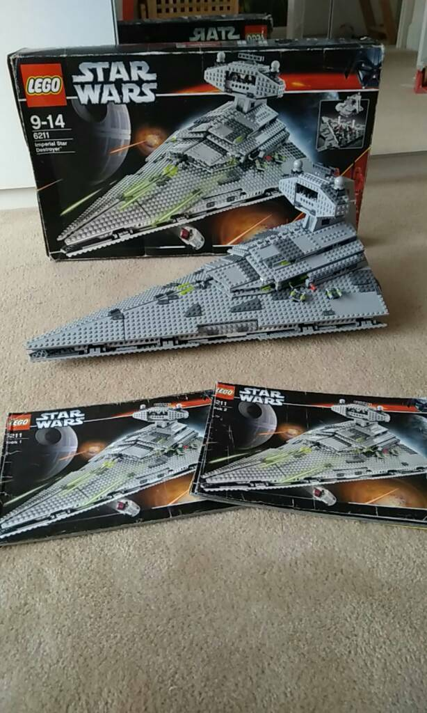 Lego Star Wars 6211 Imperial Star Destroyer 100 Complete W Box