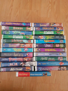 Assorted kid's vhs  movies mostly Disney