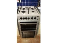 gas BEKO cooker grey/silver 50 cm wide