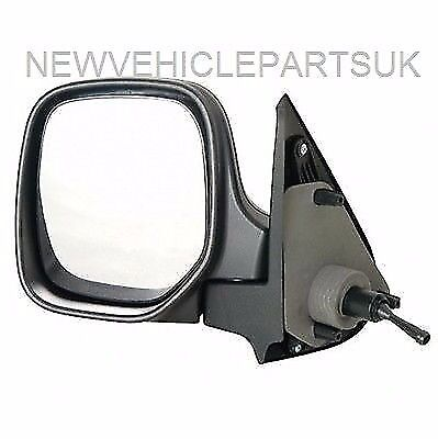 PEUGEOT PARTNER 1996-2008 DOOR WING MIRROR MANUAL BLACK PASSENGER SIDE NEW FREE DELIVERY