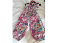 Monsoon multi coloured cropped jumpsuit age 9-10 years