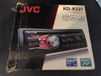 JVC KD R321 stereo with front aux port