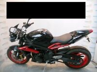 Triumph Street Triple RX Black/Red 2016