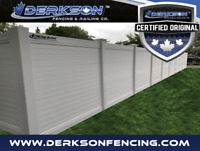 YARD FENCING GOING ON NOW, BOOK YOURS TODAY WITH DERKSON