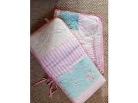 gorgeous girls cot/ cot bed set