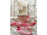 Mothercare baby harness in pink