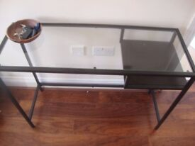 Console table in glass