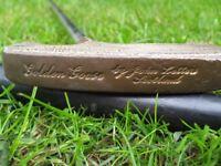Vintage John Letters Golden Goose Brass Headed Putter