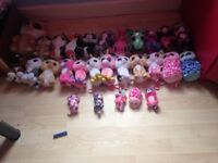 Job lot approx 30 beanie boos different sizes
