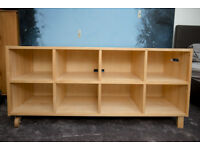 used Ikea pine storage unit