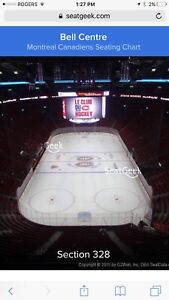 Montreal Canadiens tickets 6 games for trade or sale