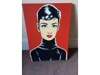 Audrey Hepburn canvas painting