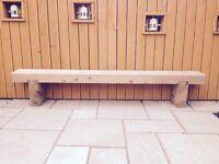 Custom Handmade Railway Sleeper Benches