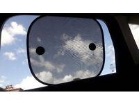 2 Pampero car window Sunshades - sucker attachment