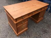 Solid pine directors desk