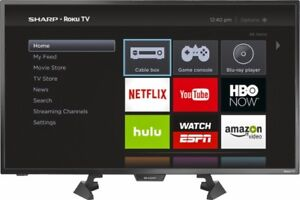 """Sharp 32"""" Smart TV, Like New, only a few months old."""