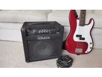 Fender Squier P-Bass and Craft Amp